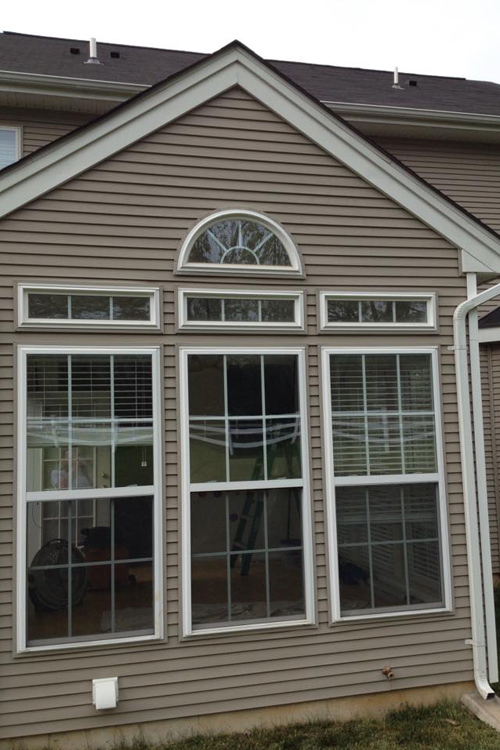 large windows installed